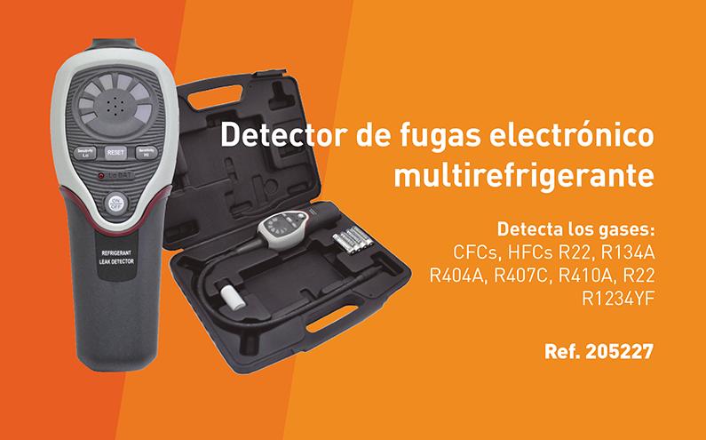 Detector de fugas electrónico multirefrigerante